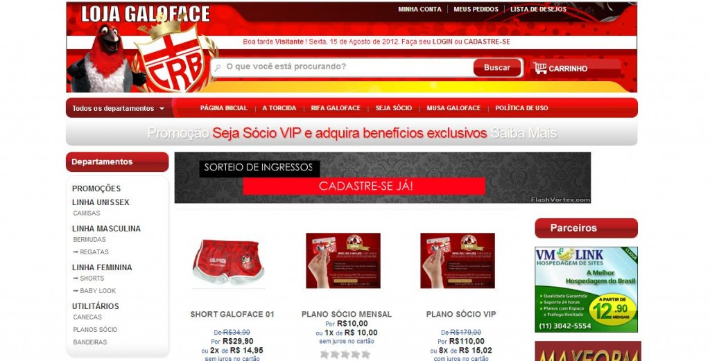 Site Loja Virtual :: Galoface